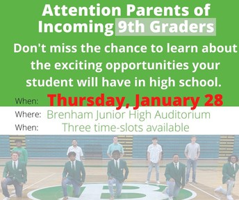Informational Meeting Parents of Incoming 9th Graders