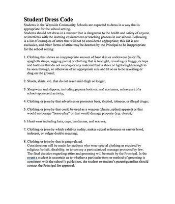 Student Dress Code
