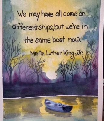 our boats may look different but we are all in this storm together!