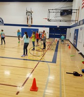 Hula Huts (new dodgeball game) in PE