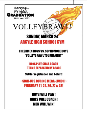 VOLLEYBRAWL - PROJECT GRADUATION FUNDRAISER