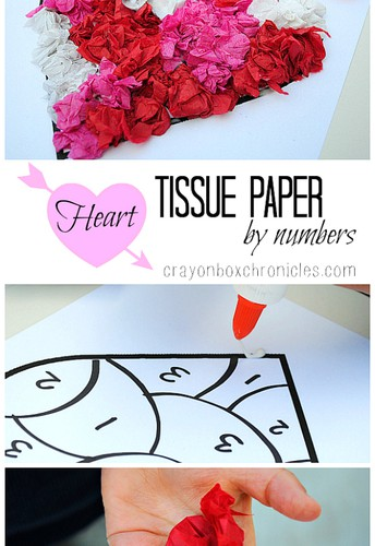 Heart Tissue Paper by Number Craft