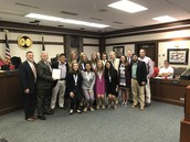 Gators of the Week:  Women's Tennis Honored at Recent Town Council Meeting