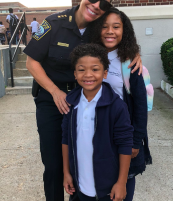 Deputy Baston welcomes Acen and Samyah back to school!