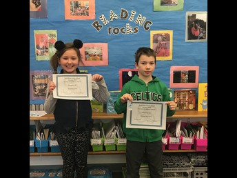 3rd grade Perfect Attendance - January