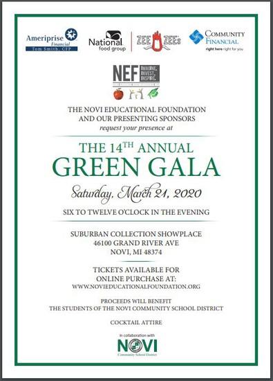 Green Gala Flier