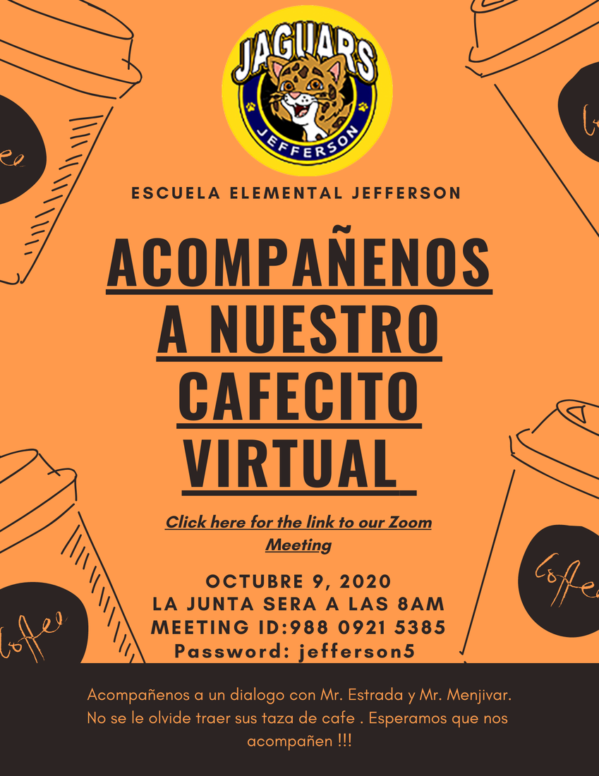 Spanish flyer for Parent meeting