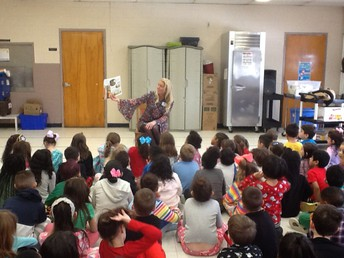 Reading to our Elementary Students During our District Reading Week