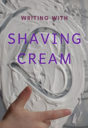 Language Arts: Shaving Cream Letters