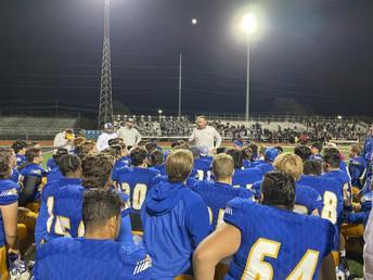 coach johnston addresses buffs football after a game