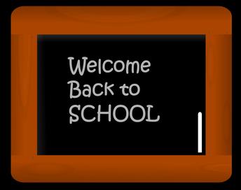 pizarron que dice bienvenidos a la escuela