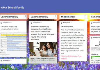 Padlet to Share Ideas