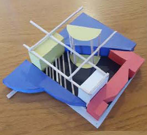 Architecture models were recently used as centerpieces during the Central Houston Annual Luncheon.