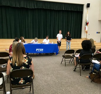 First PTSA meeting