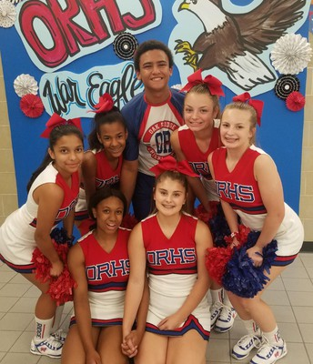 Cheerleaders at Open House