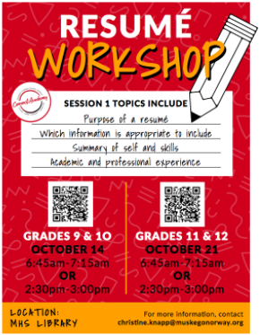 Resume Workshop Opportunity
