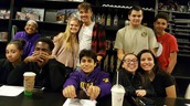A few members of the Spanish Club and friends met Señora Greenwood at the Librarium Café.  Hot tea, good conversation and planning makes a great meeting!
