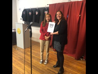 Rosie Cabelin won our school's Poetry Out Loud contest