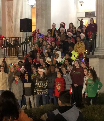 Chorus performing for our community.