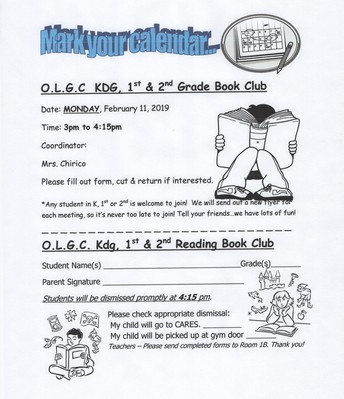 February Book Club with Mrs. Chirico