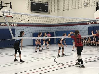 Volleyball teams getting ready for their season end tournament