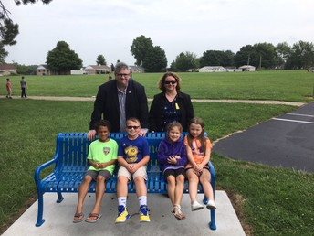 Buddy Bench Donors (Ty Wooten and Keri Brennan) visited Weston this week!