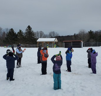 CES Students Warm Up for Gymnastics