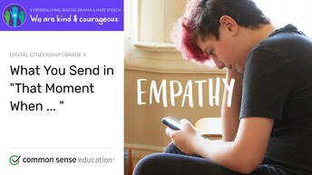"'""What You Send in 'That Moment When ... '""  Student Activity - August 23, 2019"