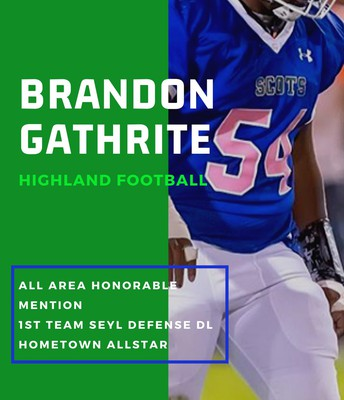 Junior Brandon Gathrite