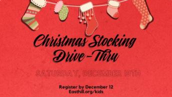 East Hill Church Christmas Stocking Drive Thru
