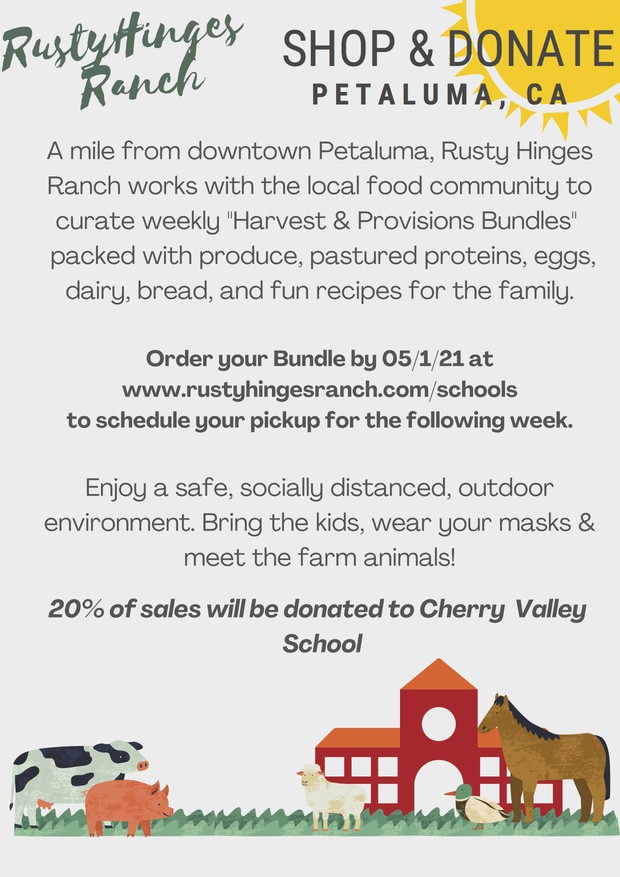 PTA Dine + Donate: Rusty Hinges Ranch