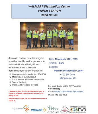 Project Search Open House - Walmart Distribution Center