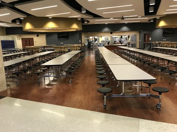 LVT Flooring in Liberty North Cafeteria