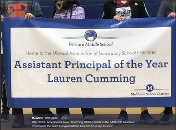 Banner Presentation During All-School Assembly