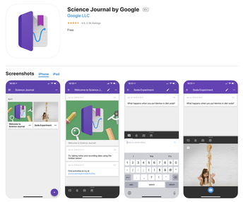 Experiments & Collecting Data: Science Journal by Google - Grades 6-12