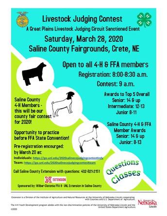 2020 Livestock Judging Contest
