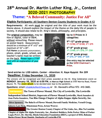 Dr. Martin Luther King, Jr. Photography Contest