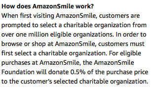 What is AmazonSmile?