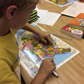 Using our map skills to solve our Mystery Skype