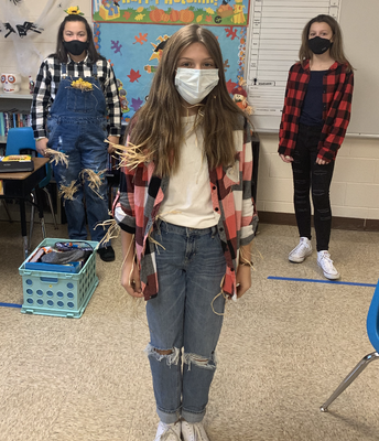 8th Grade Scarecrows!