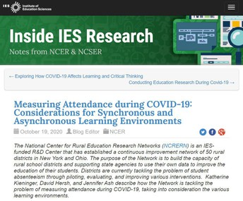 Measuring Attendance during COVID-19: Considerations for Synchronous and Asynchronous Learning Environments