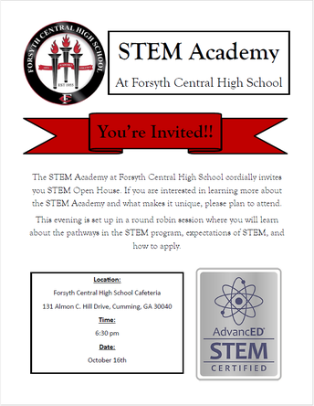 Informational Meeting about STEM at Forsyth Central High School