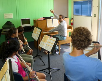 Music classes with Mr. Johnson