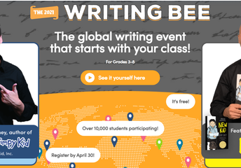 GLOBAL WRITING BEE FOR GRADES 3-8 (SIGN UP BY APRIL 30)
