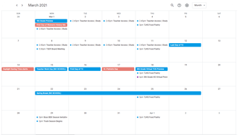 Add our Calendar of Events to Your Calendar!