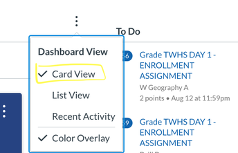 USE CARD VIEW ON CANVAS DASHBOARD