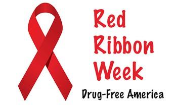 Red Ribbon Week: Pledge to be drug free/ Semana de la Cinta Roja: ¡Prométete estar libre de drogas!