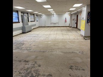 Northside of library empty (subfloor needed to make entire library level)