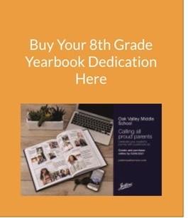 8th Grade Yearbook Dedications