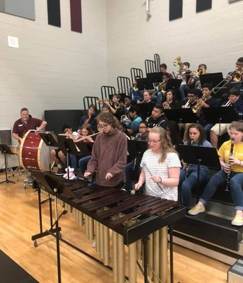 Our band performs at our pep rallies with great enthusiasm.